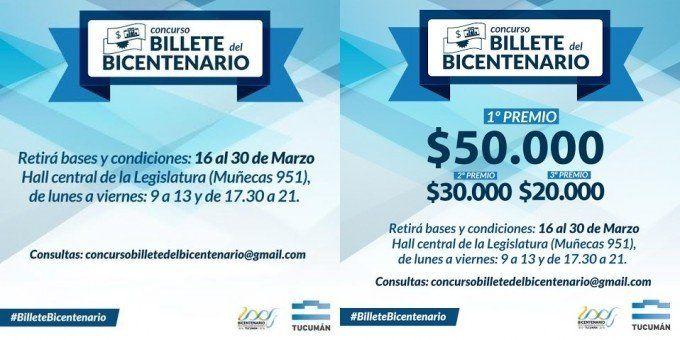 El Concurso Billete del Bicentenario ya lleva más de 100 inscriptos