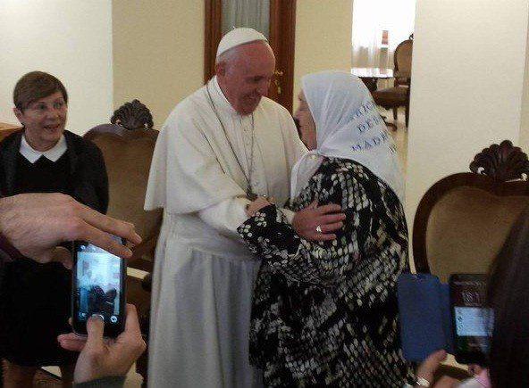 Terminó la audiencia entre Francisco y Hebe de Bonafini en el Vaticano