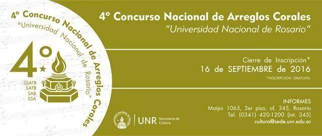Convocatoria para el Cuarto Concurso Nacional de Arreglos Corales