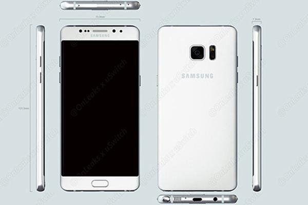 Se filtraron datos sobre el nuevo Samsung Galaxy Note 7