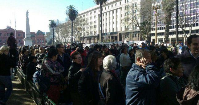 Cristina habló sobre las miles de personas que hicieron fila por frutas gratis