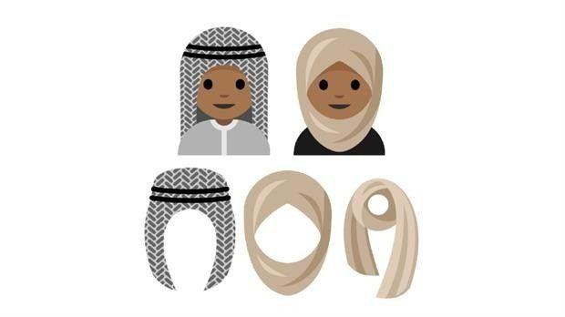 Piden la creación de emojis de caras con velos y turbantes