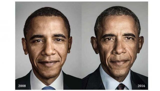 Impresionante: así cambió Obama en ocho años