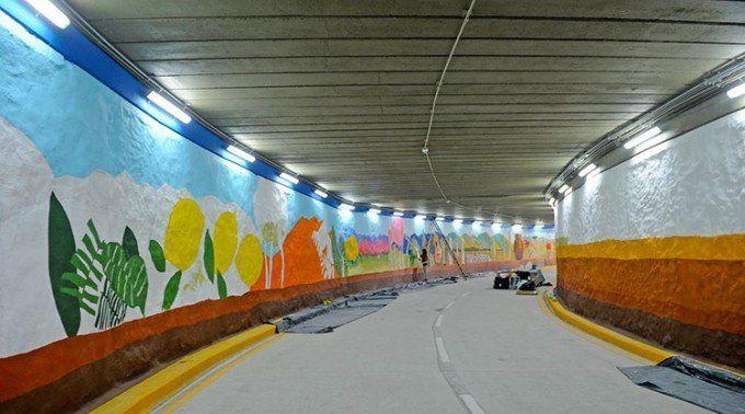 Inauguran el primer túnel del Paseo del Bicentenario