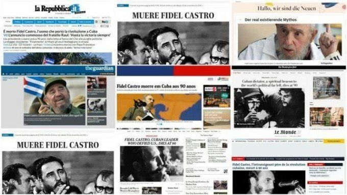 La muerte de Fidel en los diarios del mundo