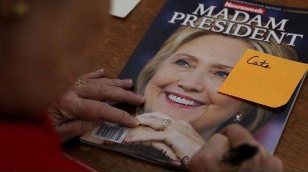 Subasta una edición de Newsweek con Clinton como presidenta