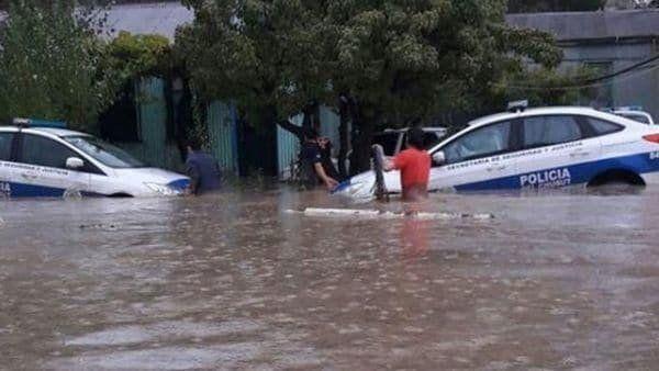 Graves daños por un fuerte temporal en Comodoro Rivadavia