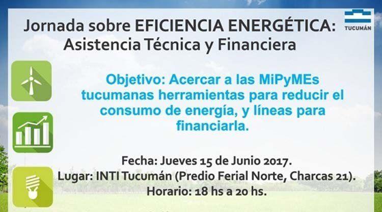 Brindarán una capacitación sobre eficiencia energética