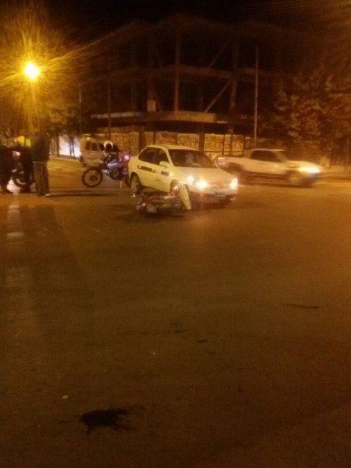 Accidente en San Martín y Avenida Avellaneda