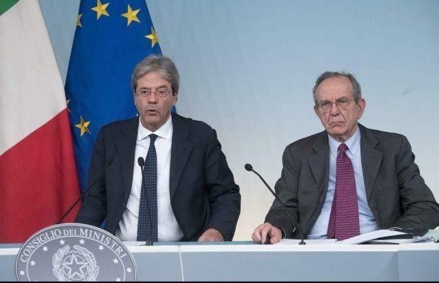 Italia destinó 17 mil millones de euros para rescatar a dos bancos