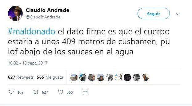 Santiago Maldonado: Un periodista dijo hace un mes dónde estaba el cuerpo
