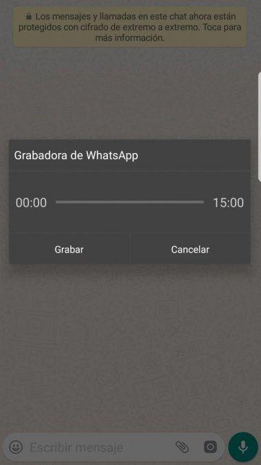 Cómo enviar audios de WhatsApp sin mantener el botón de grabación presionado
