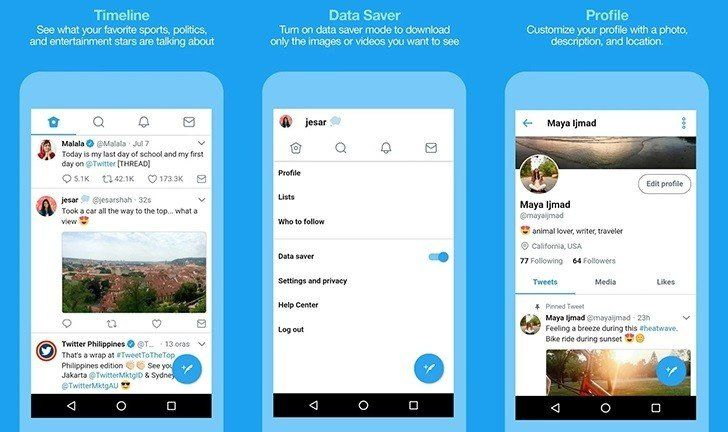 Ya está disponible Twitter Lite, la versión de bajo consumo de la app