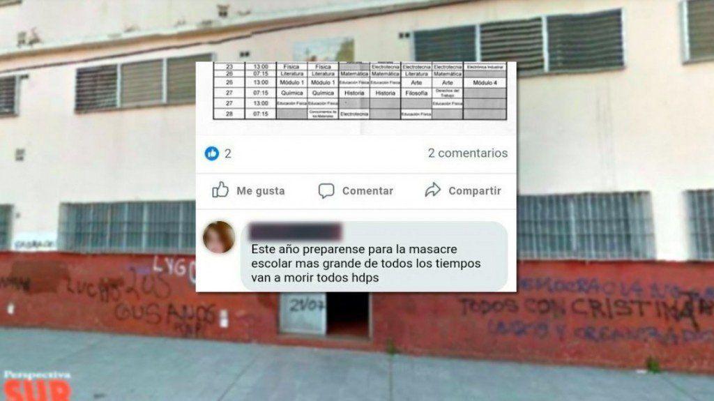 Un ex alumno amenazó con provocar una masacre en una escuela de Florencio Varela