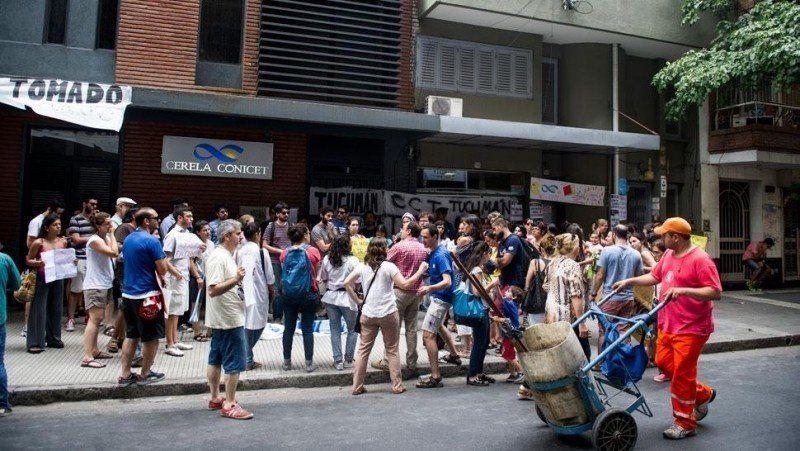 Protesta de becarios del Conicet