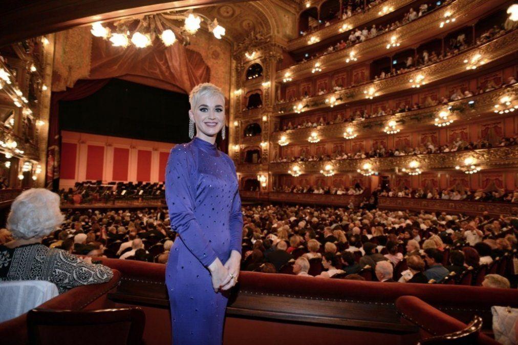Katy Perry visitó el Teatro Colón para disfrutar del concierto del maestro Gustavo Dudamel