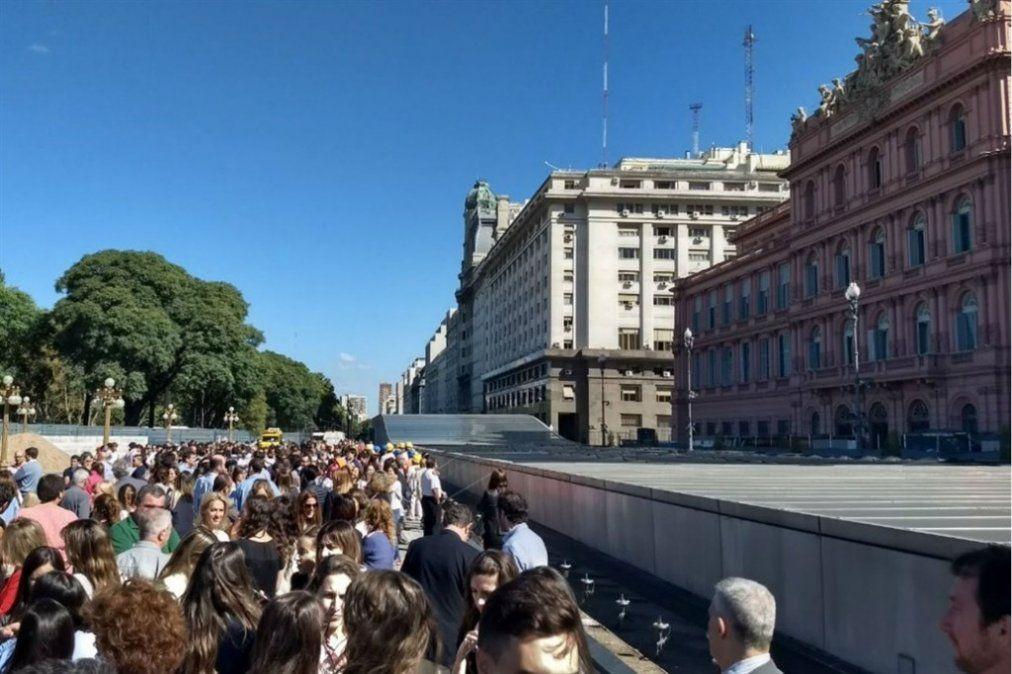Se realizó el primer simulacro de evacuación de la historia en la Casa Rosada