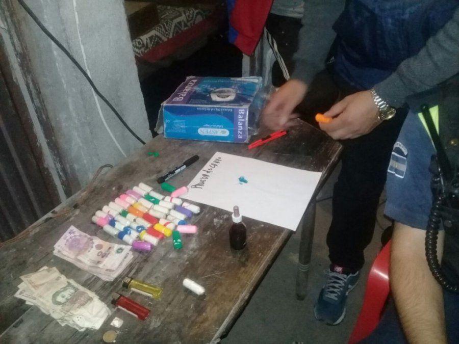 Fueron en busca de elementos robados y se encontraron con droga