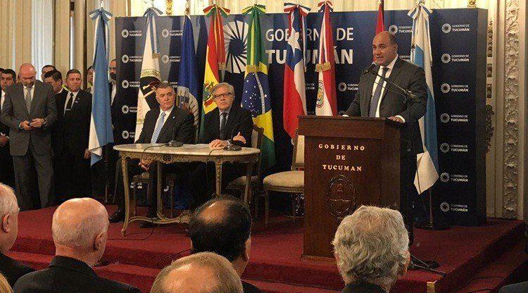 Manzur recibió al titular de la OEA y a gobernadores latinoamericanos