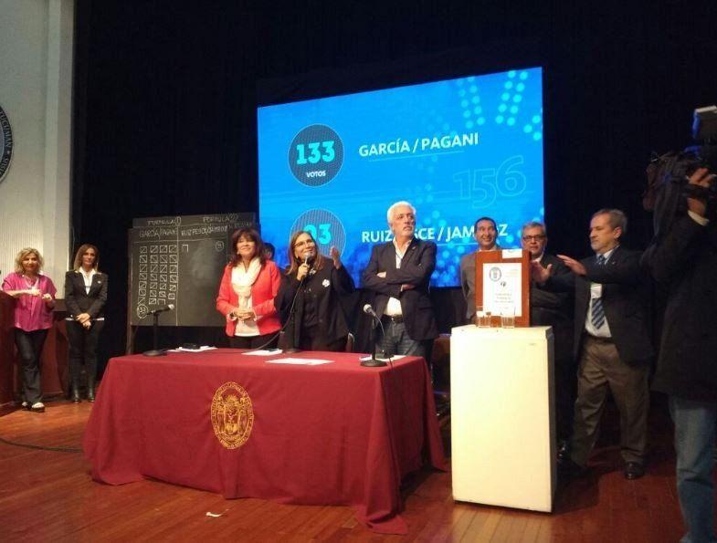 La Asamblea Universitaria eligió a la fórmula García- Pagani