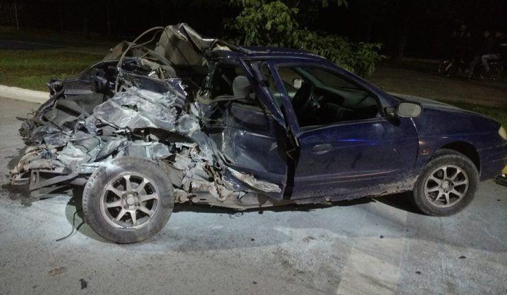Accidente en avenida Perón: Solo esperan que una de las víctimas despierte