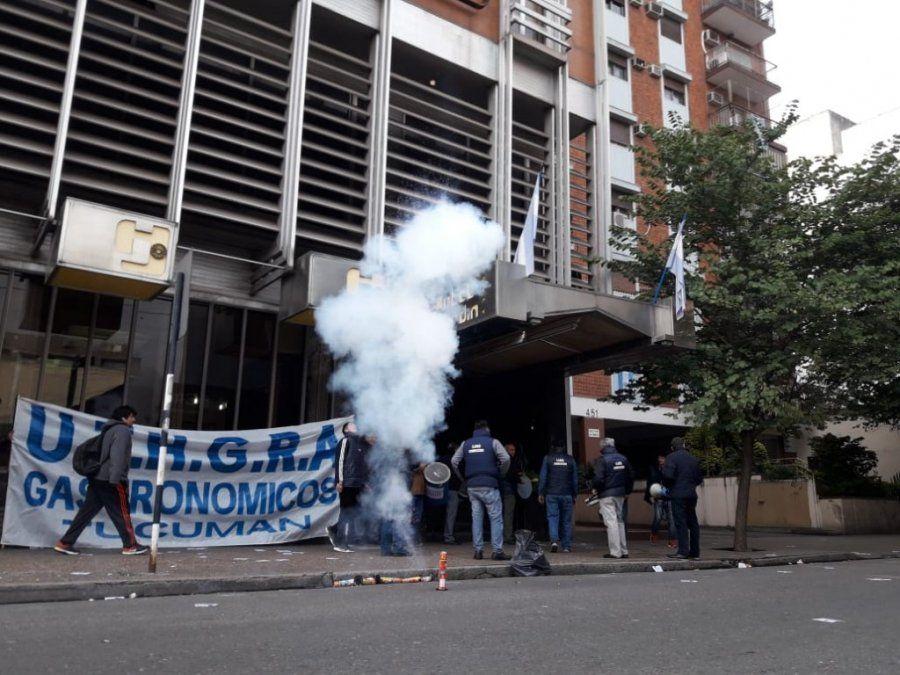 Protesta de UTHGRA