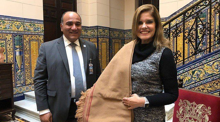 Manzur fue recibido por la Vicepresidenta de Perú