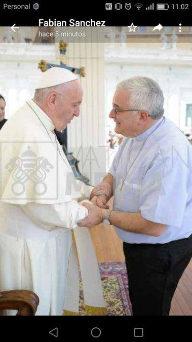 Monseñor Sánchez participó de la Audiencia General del Papa