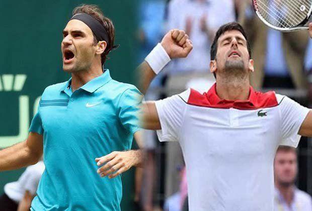 Federer va por su título 99 y Djokovic llegó a una final luego de un año
