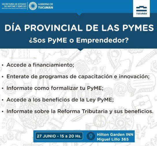 Actividades por el Día Provincial de las PYMES