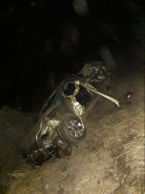 Dos jóvenes murieron en un accidente en La Trinidad