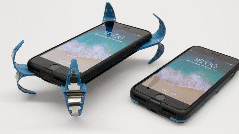 Inventan una funda con airbag para celulares