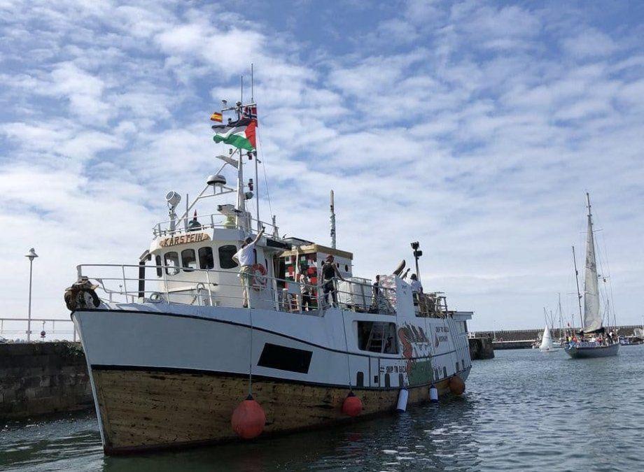 Israel interceptó un barco que intentó romper el bloqueo de la Franja de Gaza