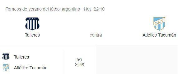 Amistoso en Salta: Atlético Tucumán juega ante Talleres