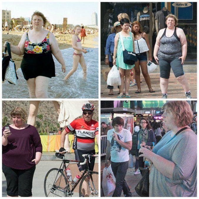 Fotógrafa muestra el juicio a la gente con sobrepeso
