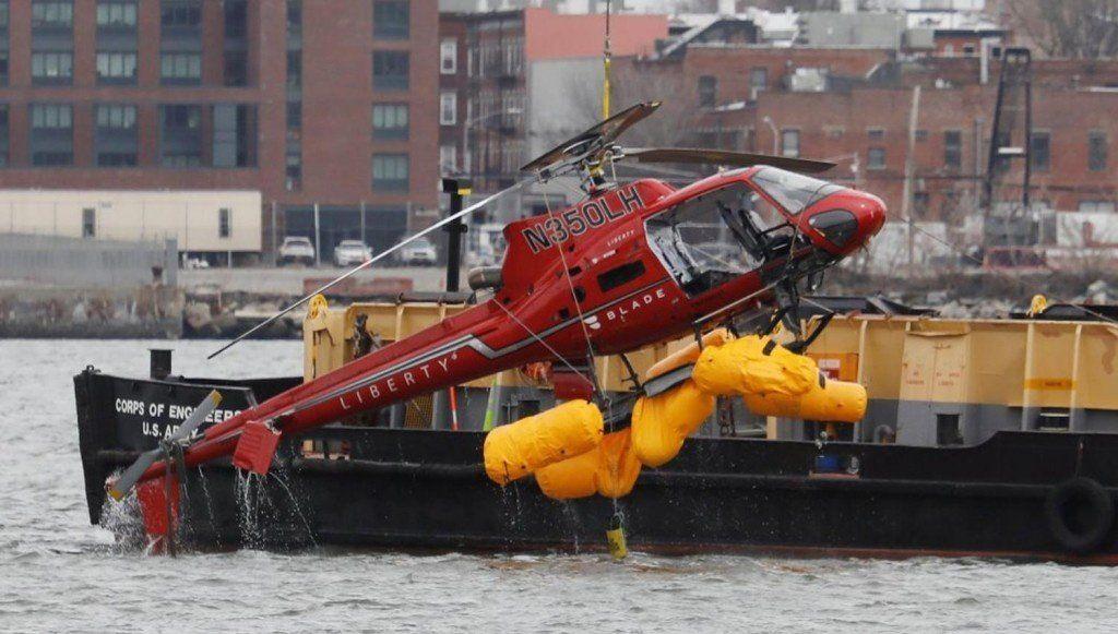 Suspendieron los vuelos en helicóptero en Manhattan