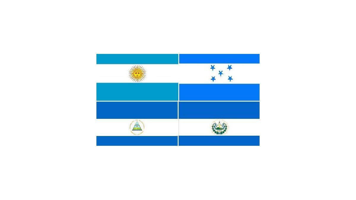la bandera blanca y celeste