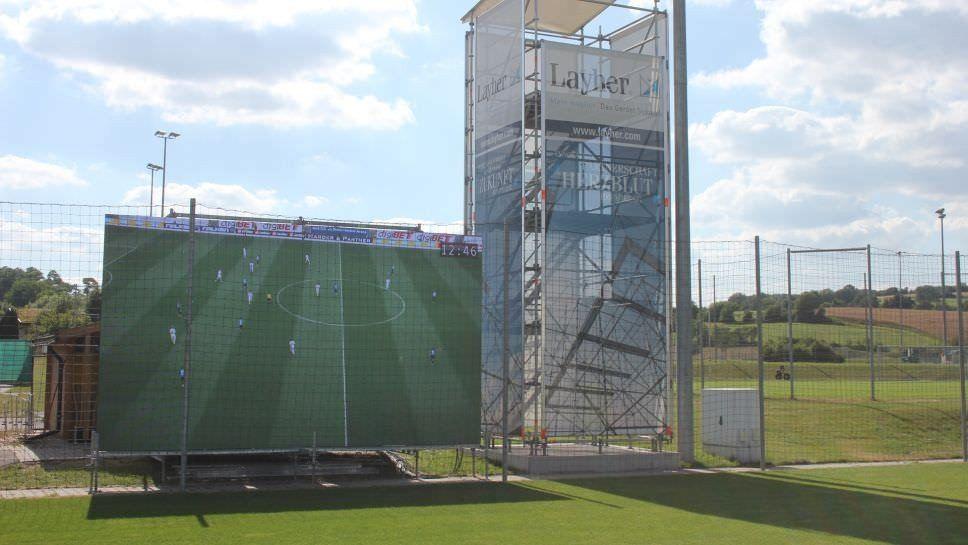 Un equipo alemán utiliza una pantalla gigante para desarrollar entrenamientos