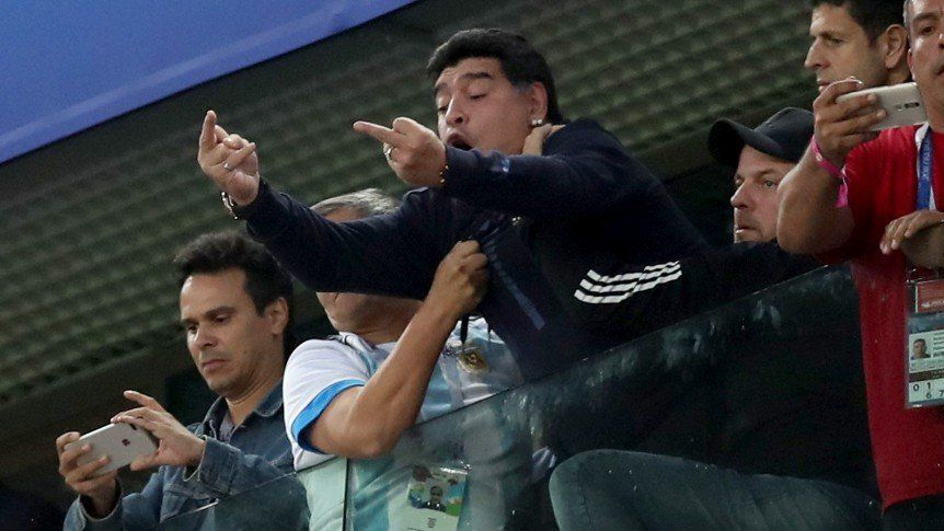 Maradona encontró a quien lo dio por muerto