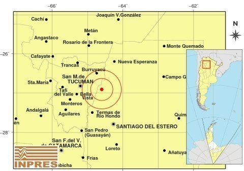 Un leve sismo se sintió anoche en Tucumán