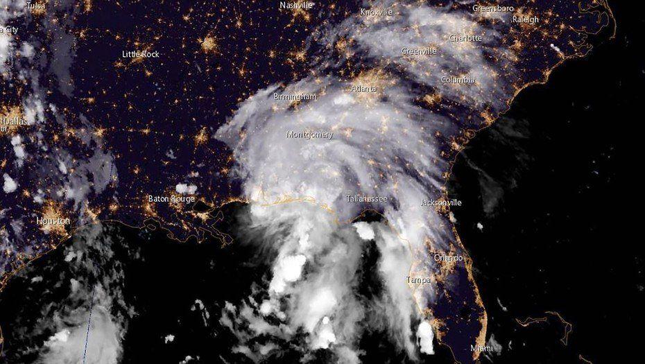 La tormenta tropical Gordon tocó la costa del Golfo de EE.UU y dejó un muerto