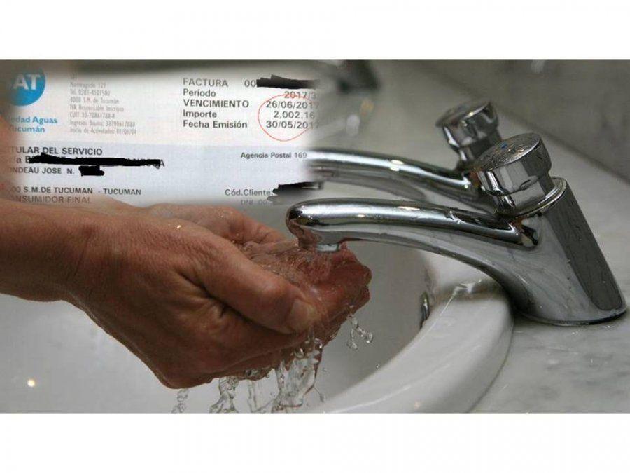 Aplican un nuevo ajuste a la factura de agua y modifican el sistema tarifario