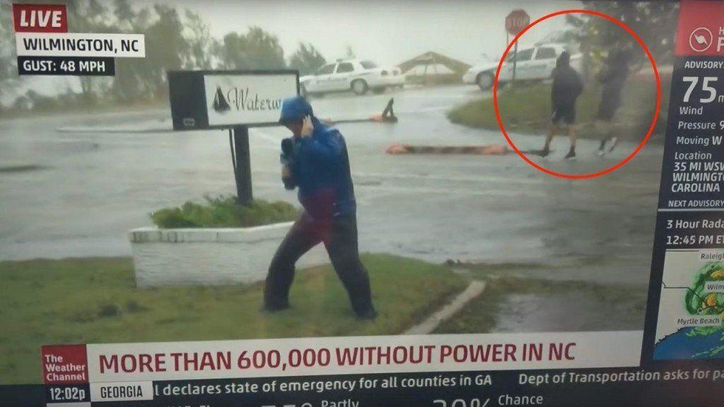 Repudio en las redes a periodista que exageró efectos del huracán Florence