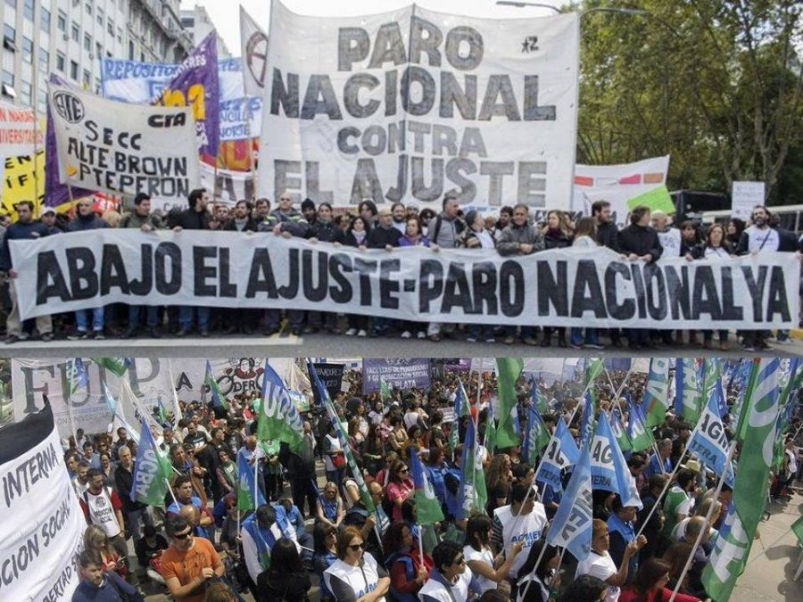 La modalidad del paro mostró un fuerte reagrupamiento del sindicalismo argentino