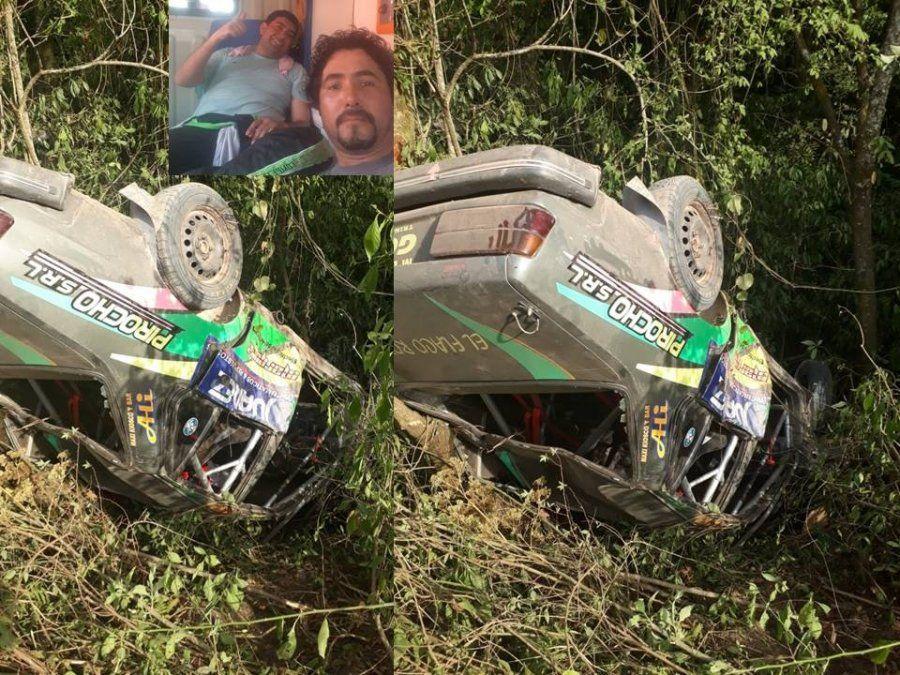 Un auto volcó en el rally de Lules: ambos tripulantes resultaron ilesos