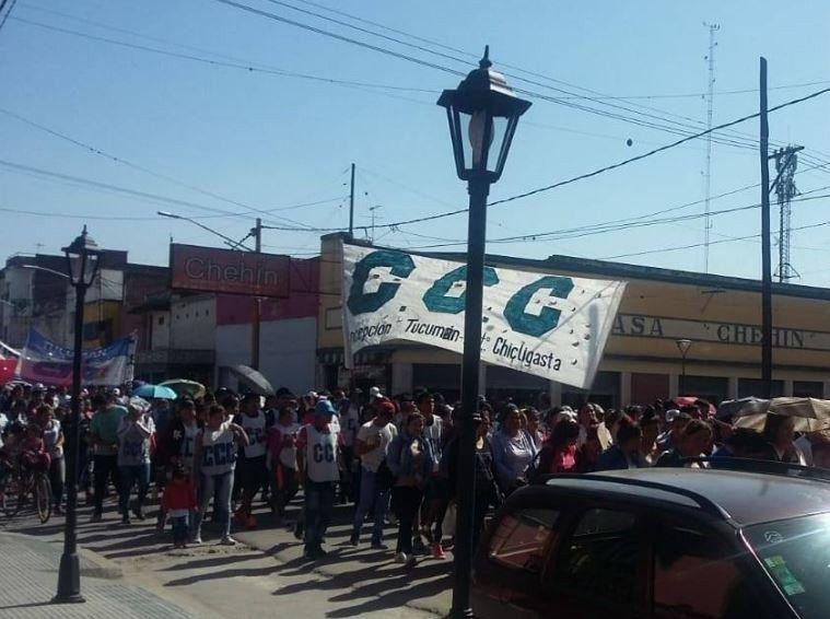 Movilización en Aguilares en contra de las políticas del Gobierno nacional