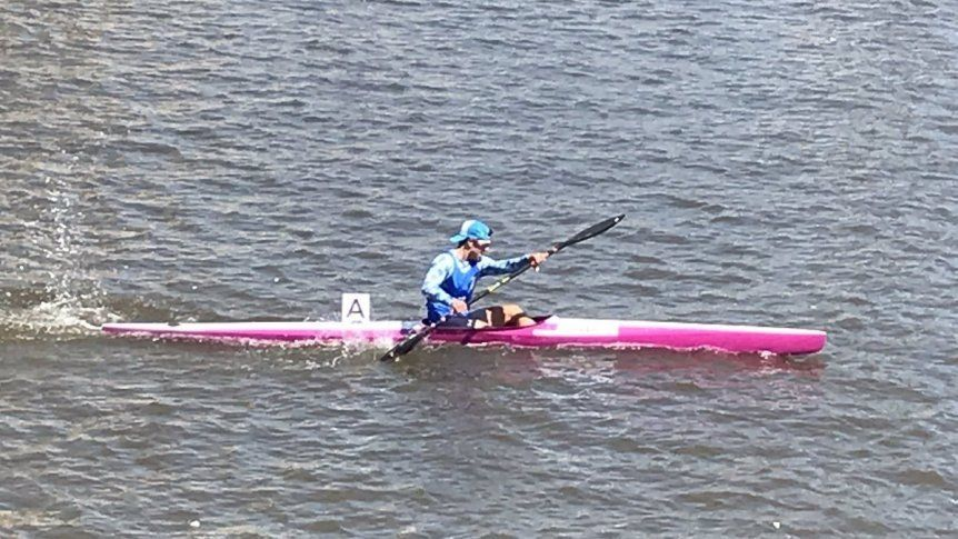 Valentín Rossi se quedó con el bronce en kayak de velocidad