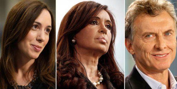 Revelaron intención de votos presidenciales: Macri, Cristina y Vidal, a la cabeza
