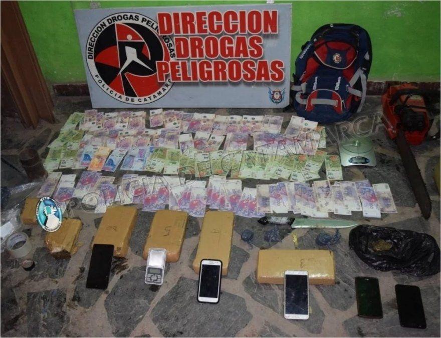 Secuestran 7 kilos de marihuana en un taller de motos en Catamarca