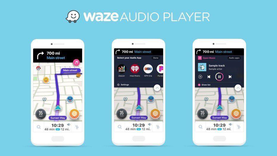 Waze suma 7 servicios de streaming de audio que se controlarán desde la aplicación